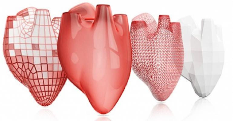 3D printed heart images