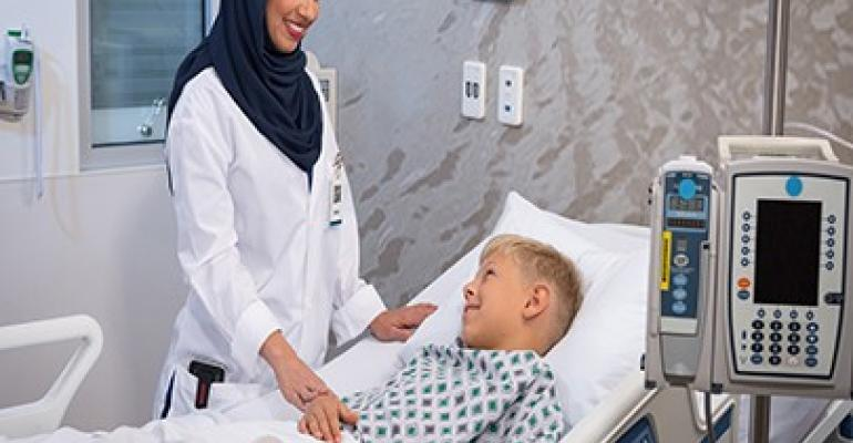 Female doctor and a patient