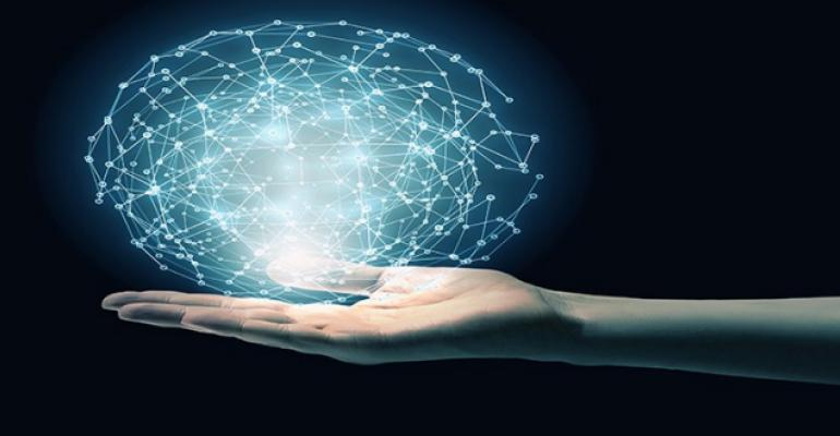 hand holding out a ball of network