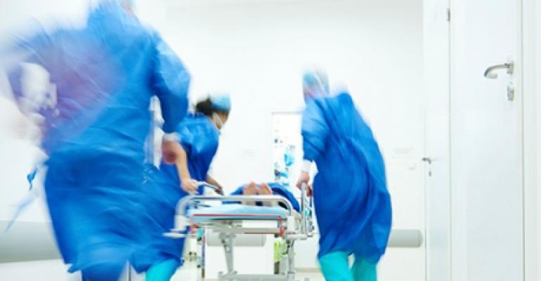 patient being rushed